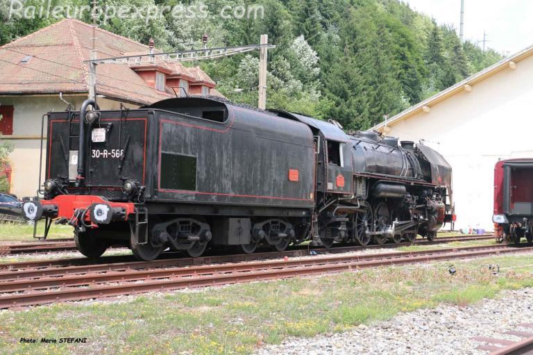 141 R 568 SNCF à Vallorbe (CH)