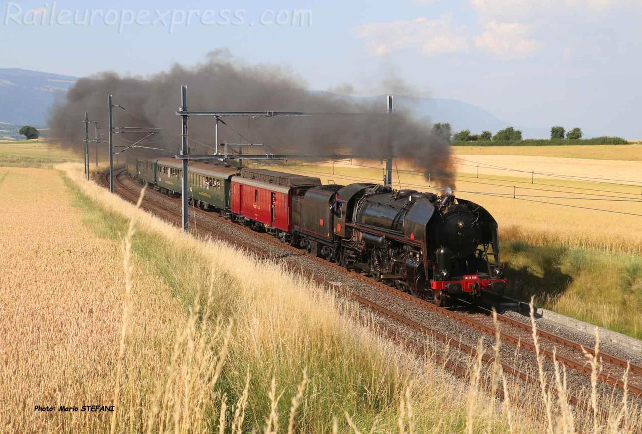 141 R 568 SNCF à Arnex (CH)