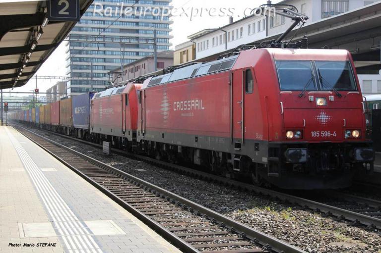 185 596-4 Crossrail à Pratteln (CH)