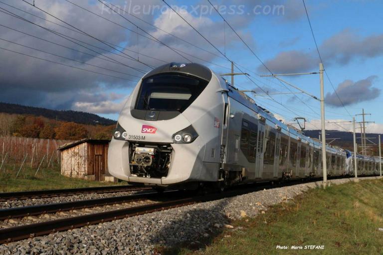 Z 31503/4 SNCF à Boudry (CH)