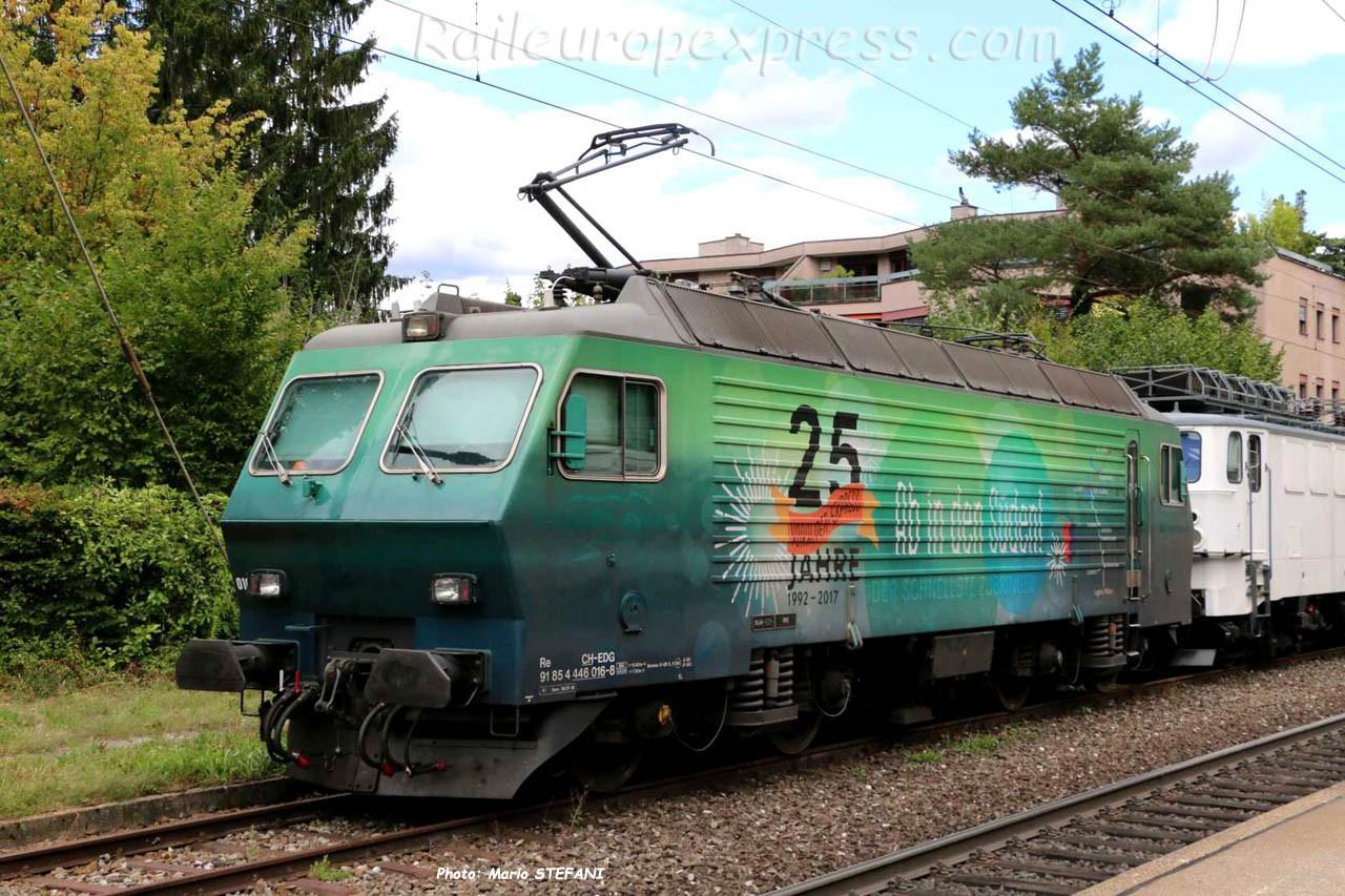 Re 446 016-8 EDG à Rheinfelden (CH)
