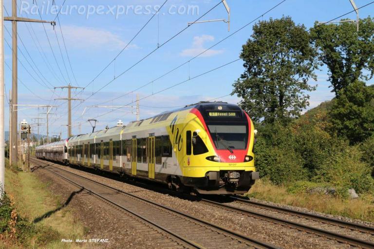 RABe 521 017 CFF à Rheinfelden (CH)