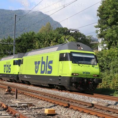Re 465 009 BLS à Boudry (CH)