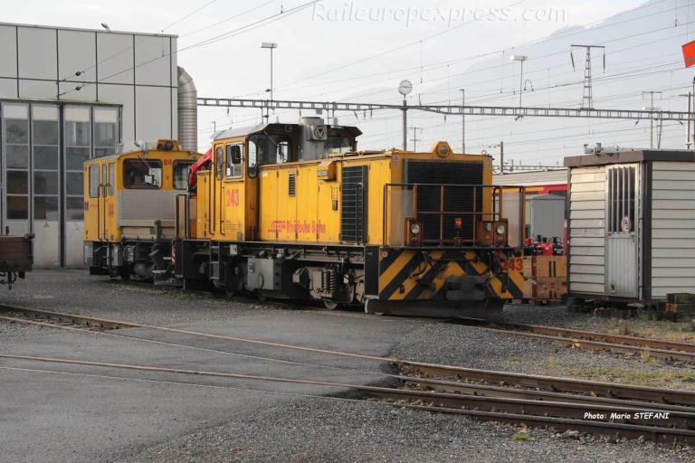 Gmf 4/4 243 RhB à Lanquart (CH)