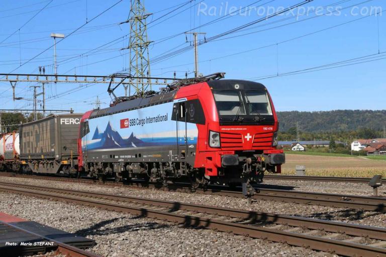 193 476-9 CFF à Henschiken (CH)