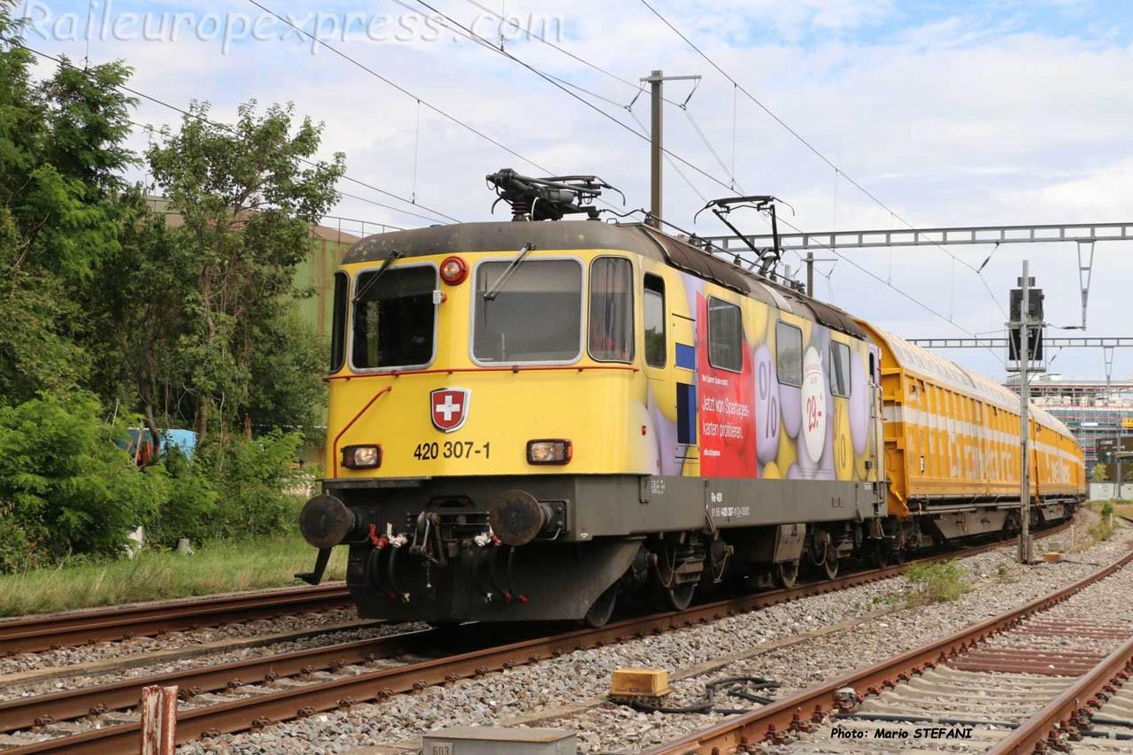 Re 420 307-1 CFF à Boudry (CH)