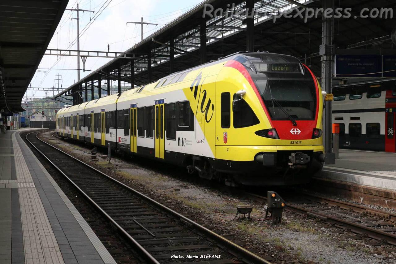 RABe 521 017 CFF à Olten (CH)