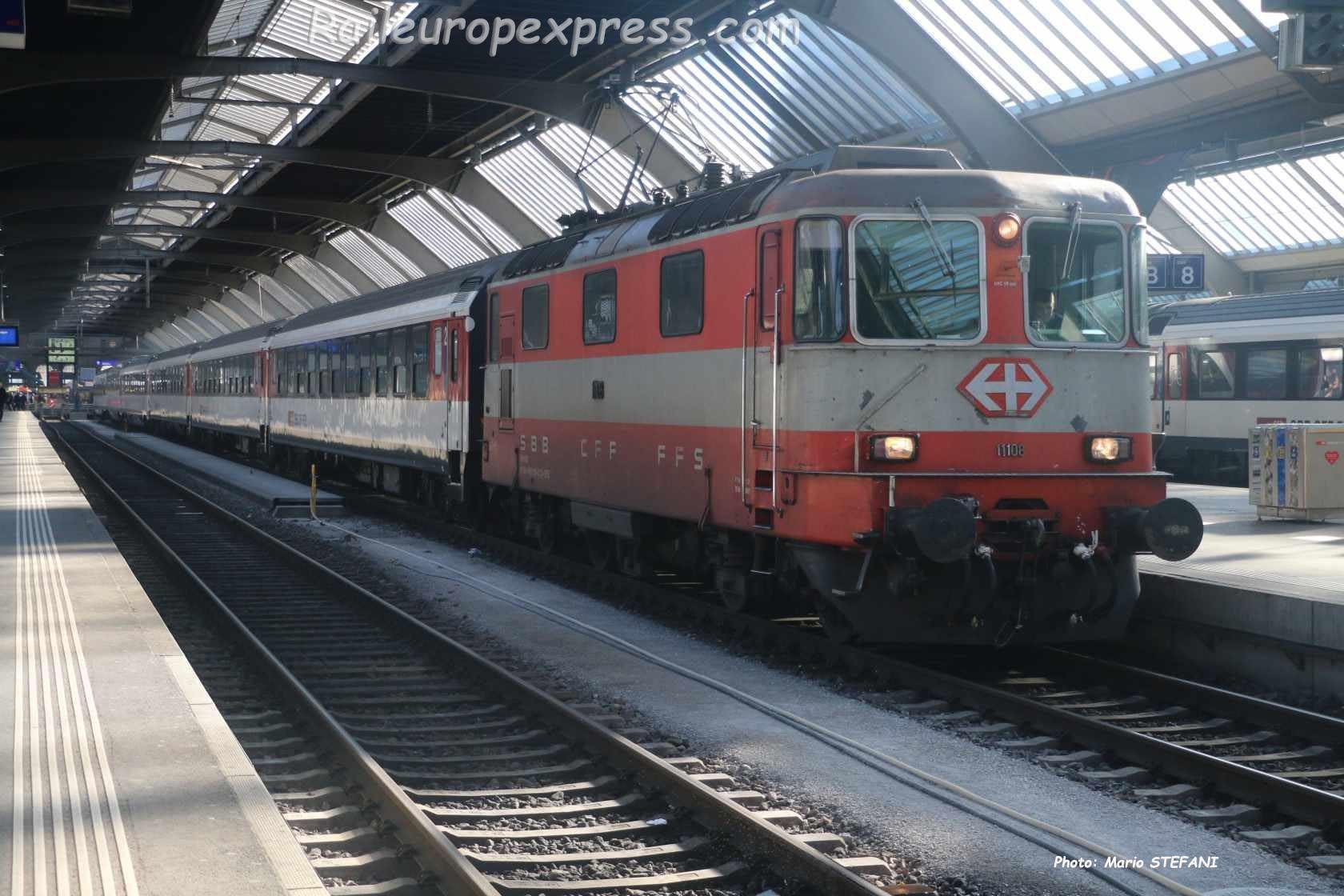 Re 4/4 II 11108 CFF à Zürich (CH)