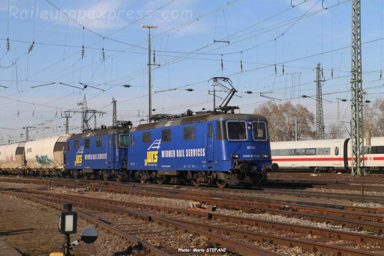 Re 421 381 WRSCH à Basel Bad (CH)