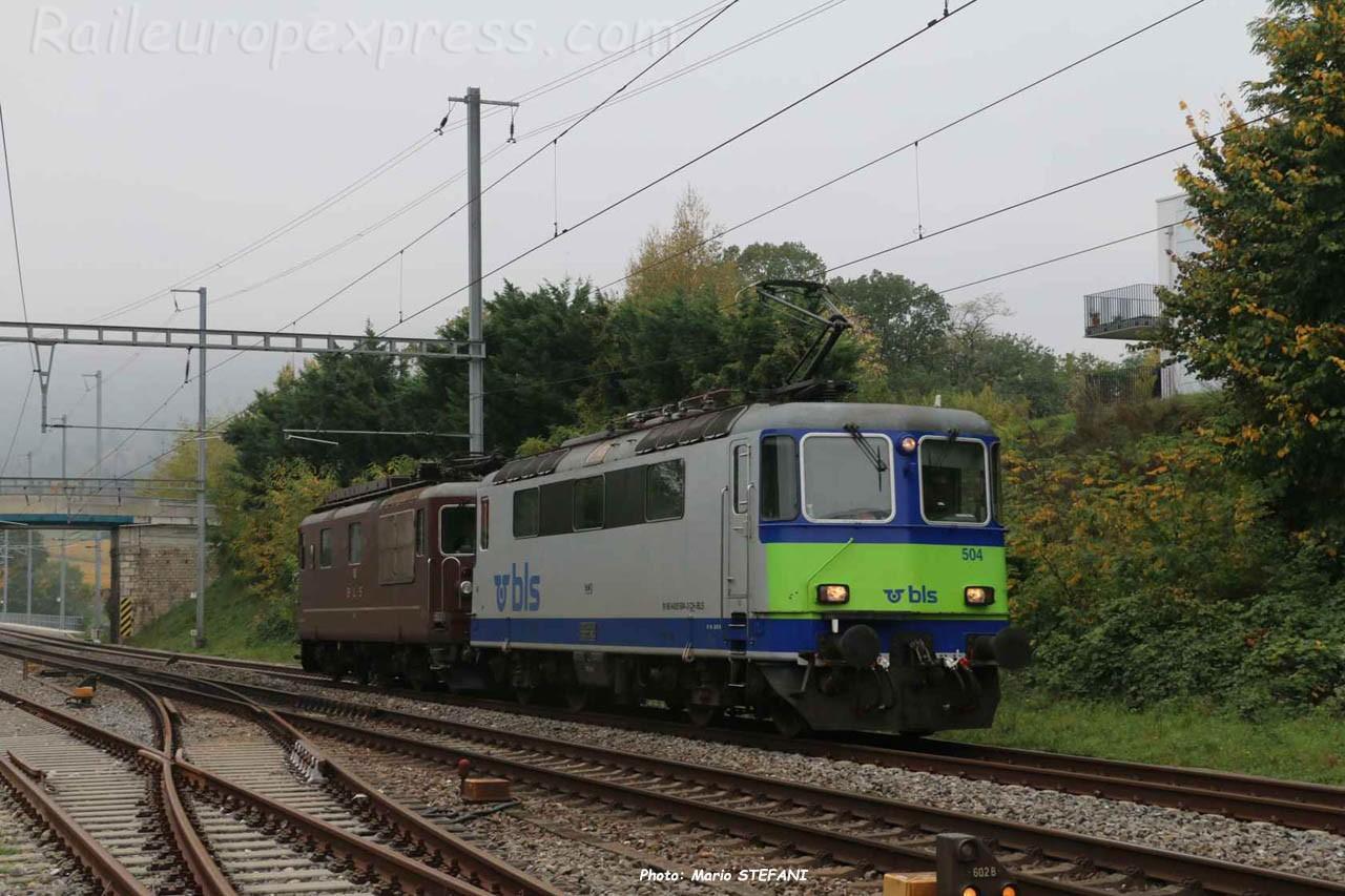 Re 420 504 BLS à Boudry (CH)