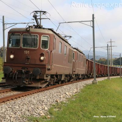 Re 4/4 191 BLS à Boudry (CH)