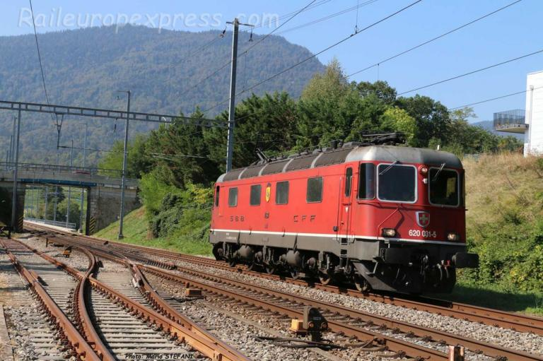 Re 620 031-5 CFF à Boudry (CH)