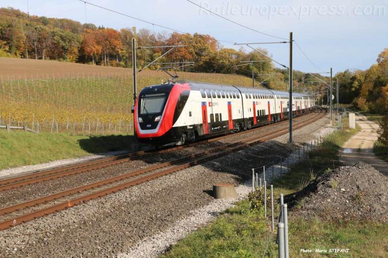 RABe 502 201-2 CFF à La Lance (CH)