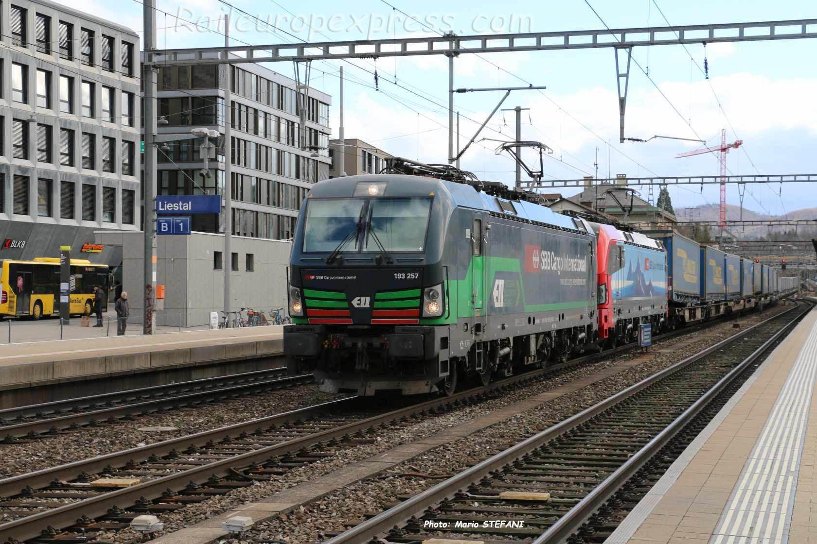 193 257-3 CFF à Liestal (CH)