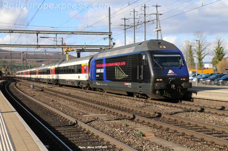 Re 460 031-8 CFF à Liestal (CH)