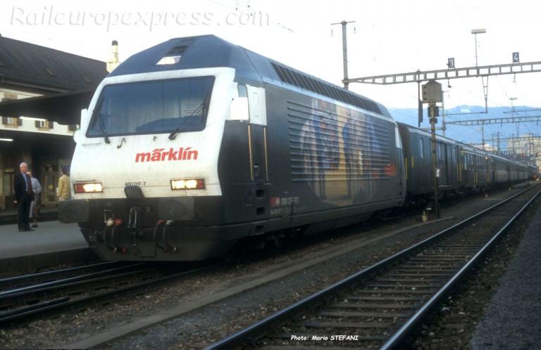 Re 460 017-7 CFF à Yverdon (CH)