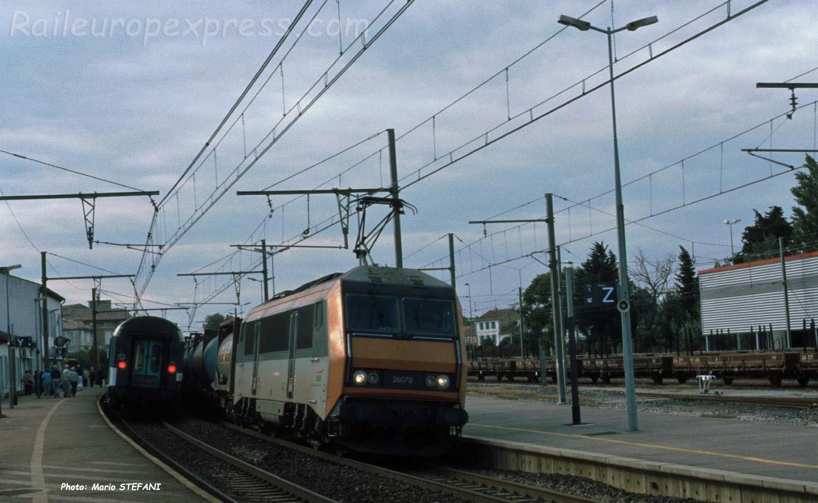 BB 26078 SNCF à Orange (F-84)