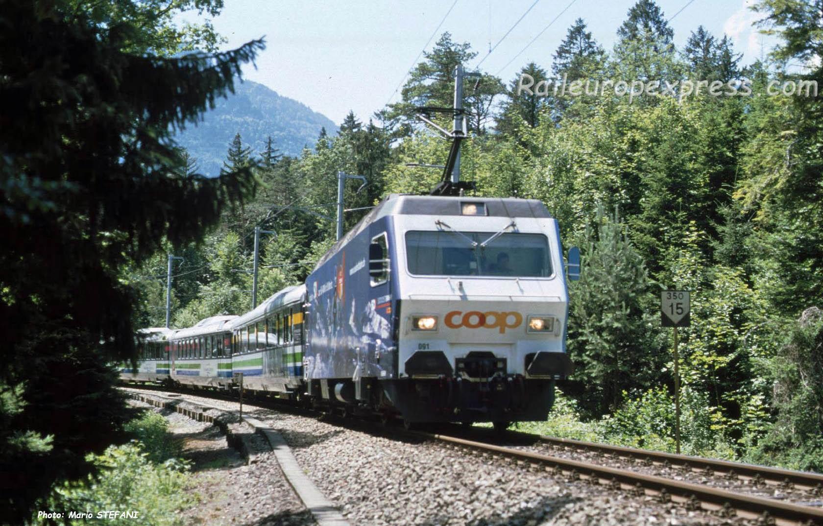 Re 465 091 SOB à Arth Goldau (CH)