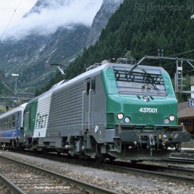 BB 37001 SNCF à Göschenen (CH)