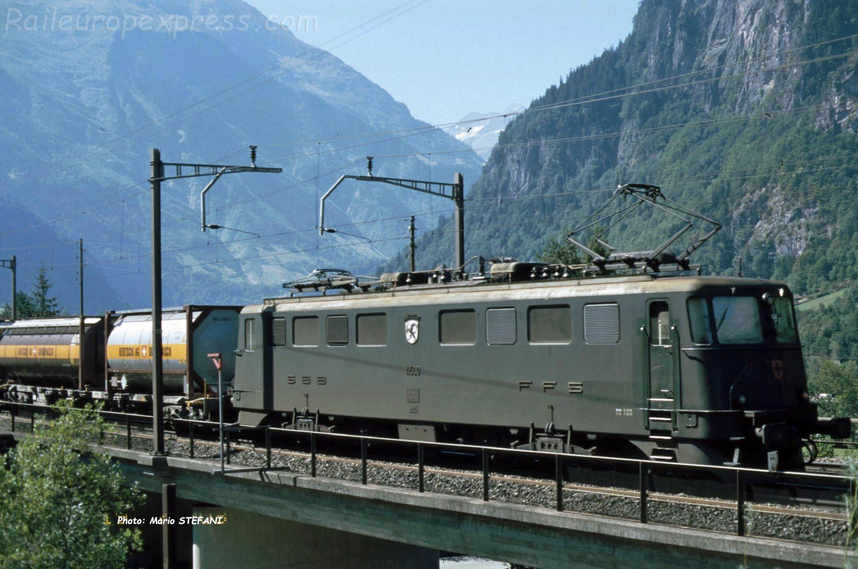 Ae 6/6 11500 CFF à Erstfeld (CH)