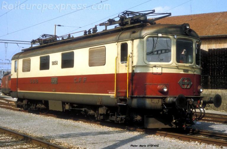 Re 4/4 I 10050 CFF TEE à Yverdon (CH)