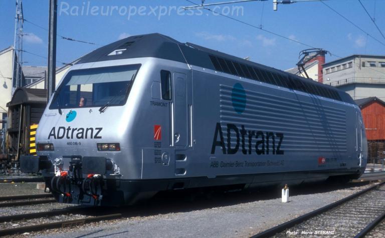 Re 460 016-9 CFF à Yverdon (CH)