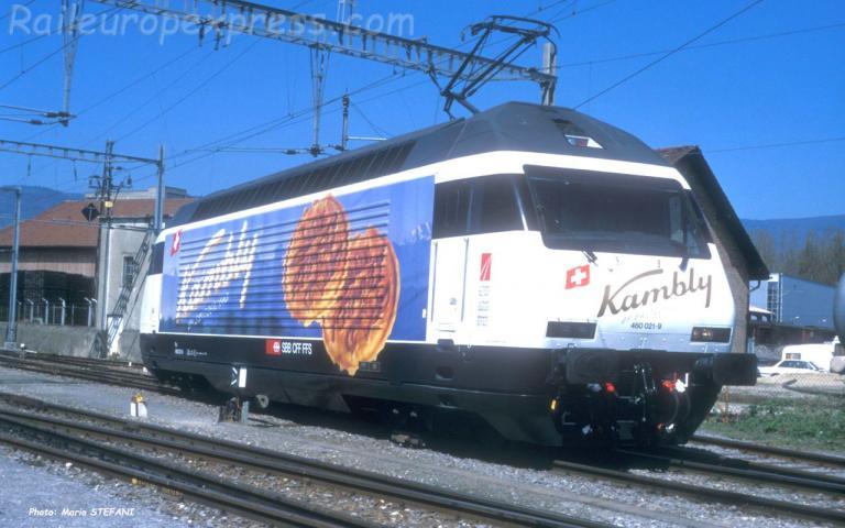Re 460 021-9 CFF à Yverdon (CH)