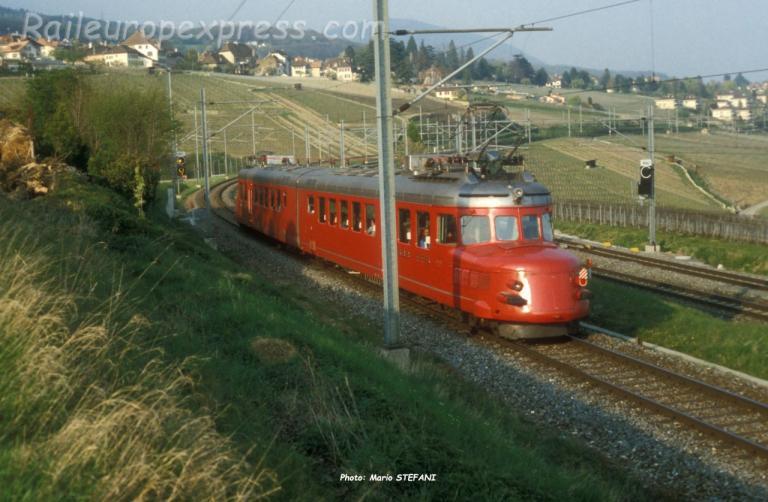 RAe 4/8 1021 CFF à Auvernier (CH)