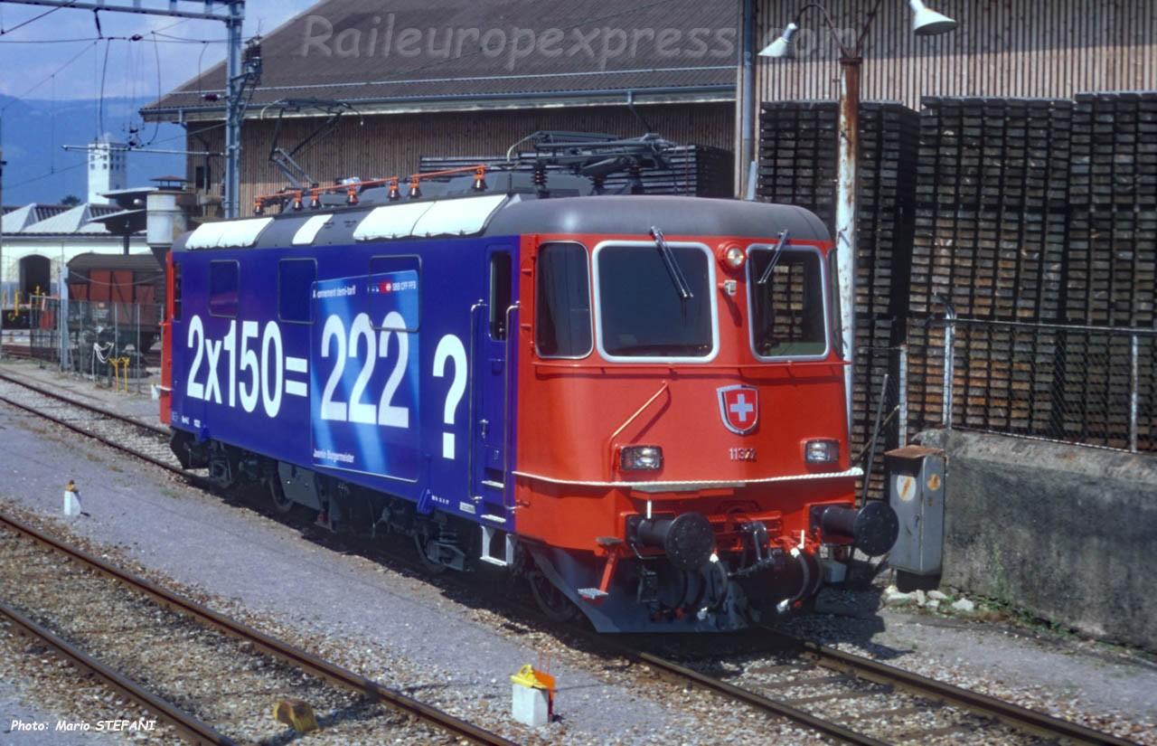 Re 4/4 II 11322 CFF à Yverdon (CH)