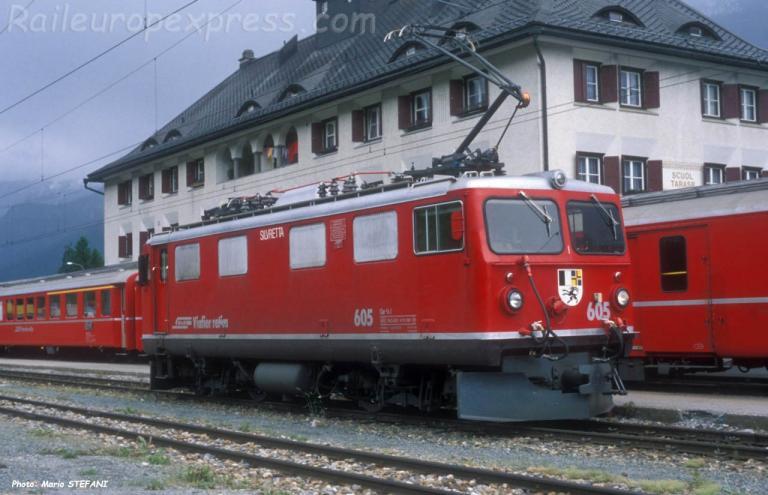 Ge 4/4 I 605 RhB à Scuol Tarasp (CH)