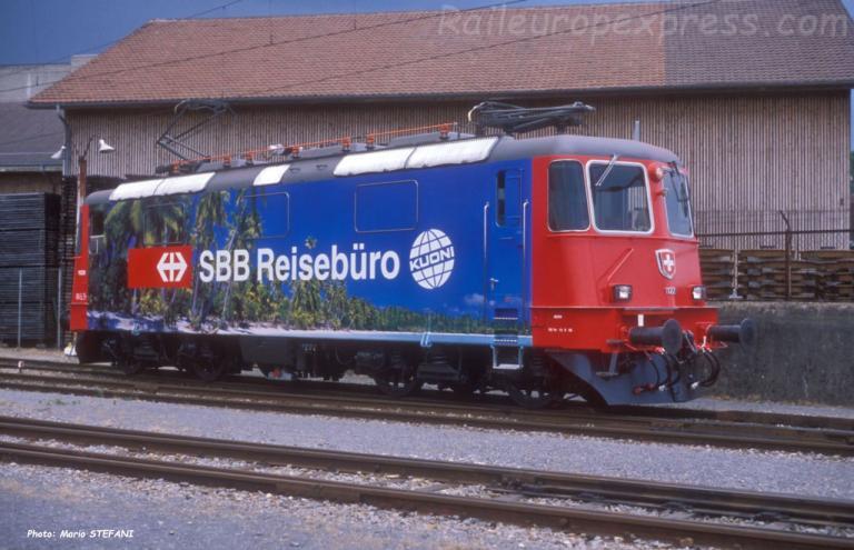 Re 4/4 II 11228 CFF à Yverdon (CH)