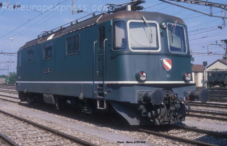 Re 4/4 II 113 EBT à Burgdorf (CH)