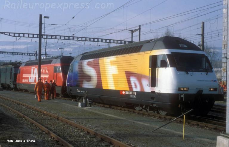 Re 460 056-5 CFF à Yverdon (CH)