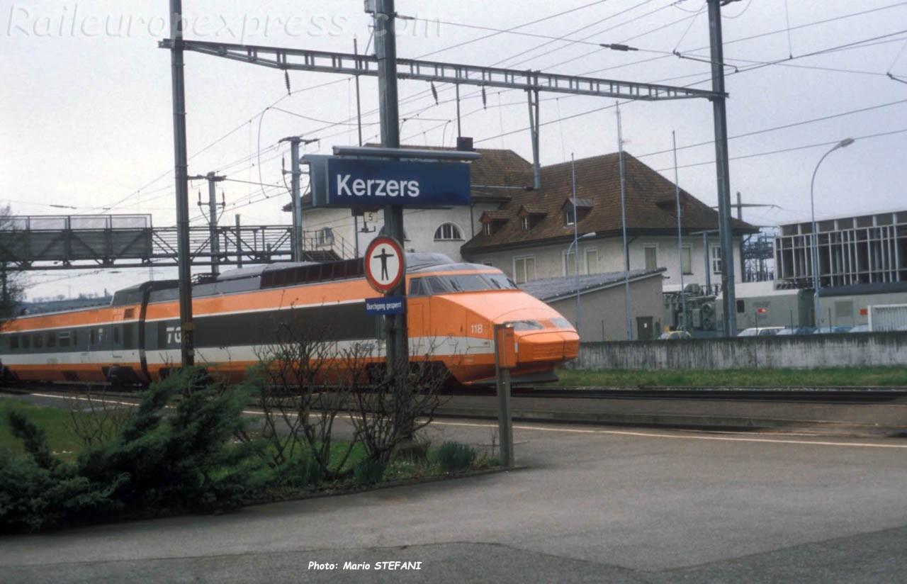 TGV SNCF à Kerzers (CH)