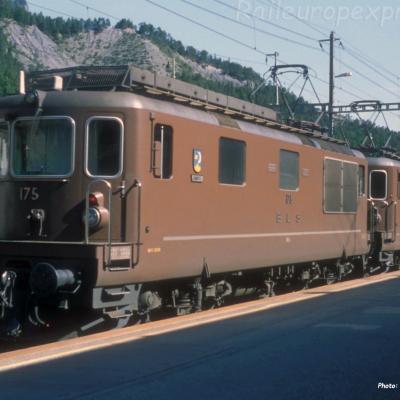 Re 4/4 175 BLS à Kandersteg (CH)