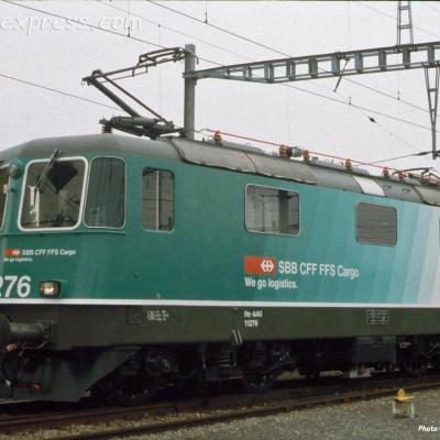 Re 4/4 II 11276 CFF à Auvernier (CH)