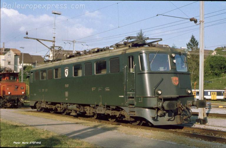 Ae 6/6 11500 CFF à Bienne (CH)