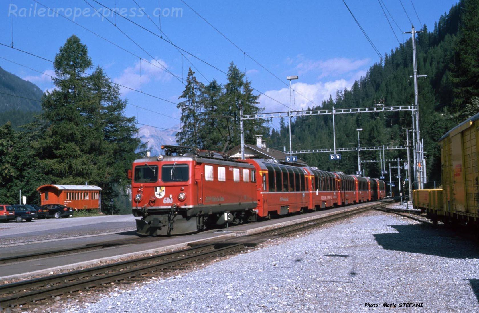 Ge 4/4 I 610 RhB à Bergün (CH)