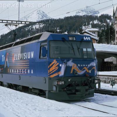 Ge 4/4 III 644 RhB à St Moritz (CH)