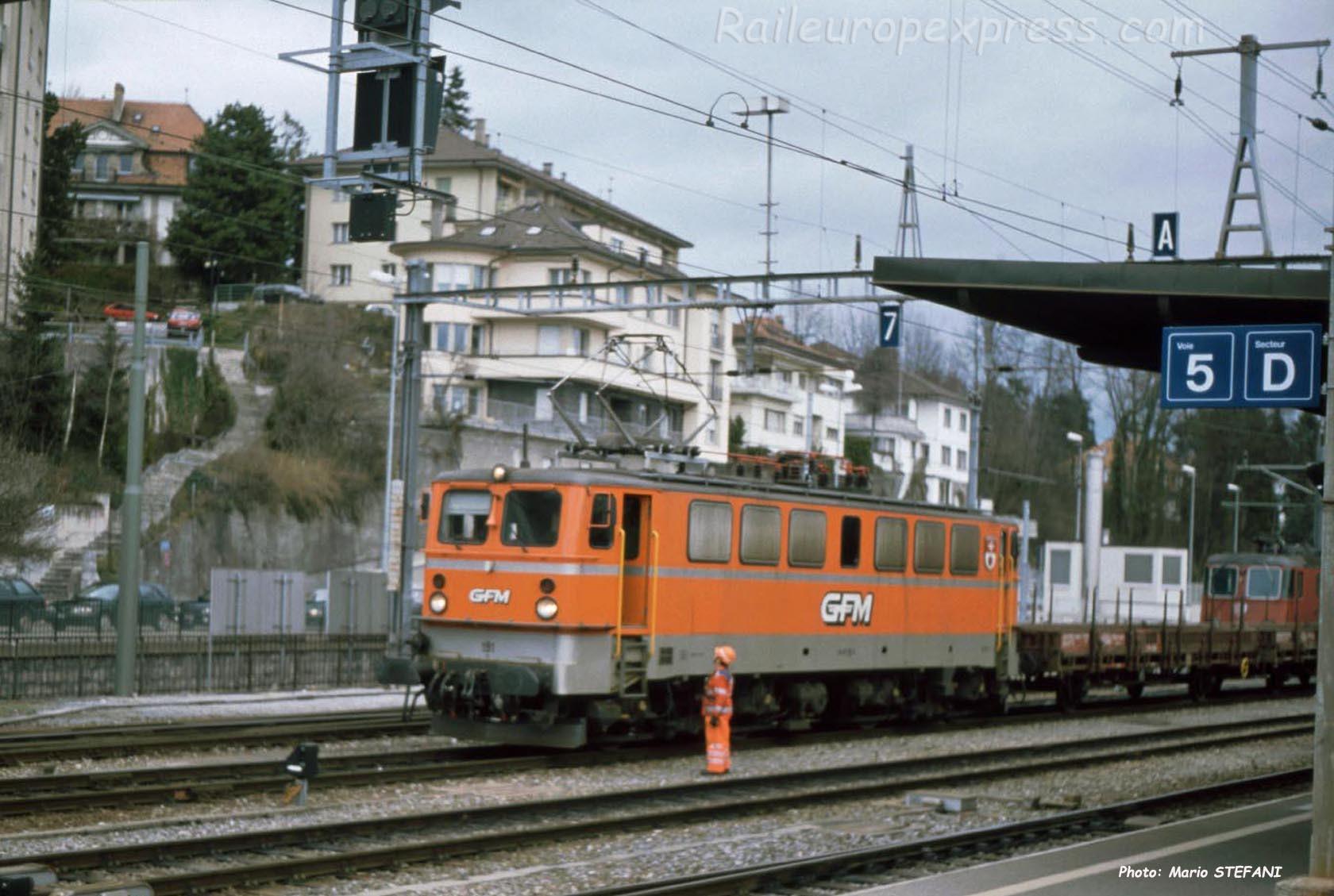 Ae 4/4 7 GFM à Fribourg (CH)