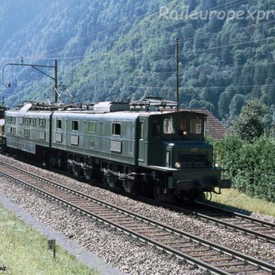 Ae 8/14 11801 CFF à Amsteg-Silenen (CH)