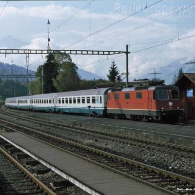Re 4/4 II CFF à Reichenbach (CH)