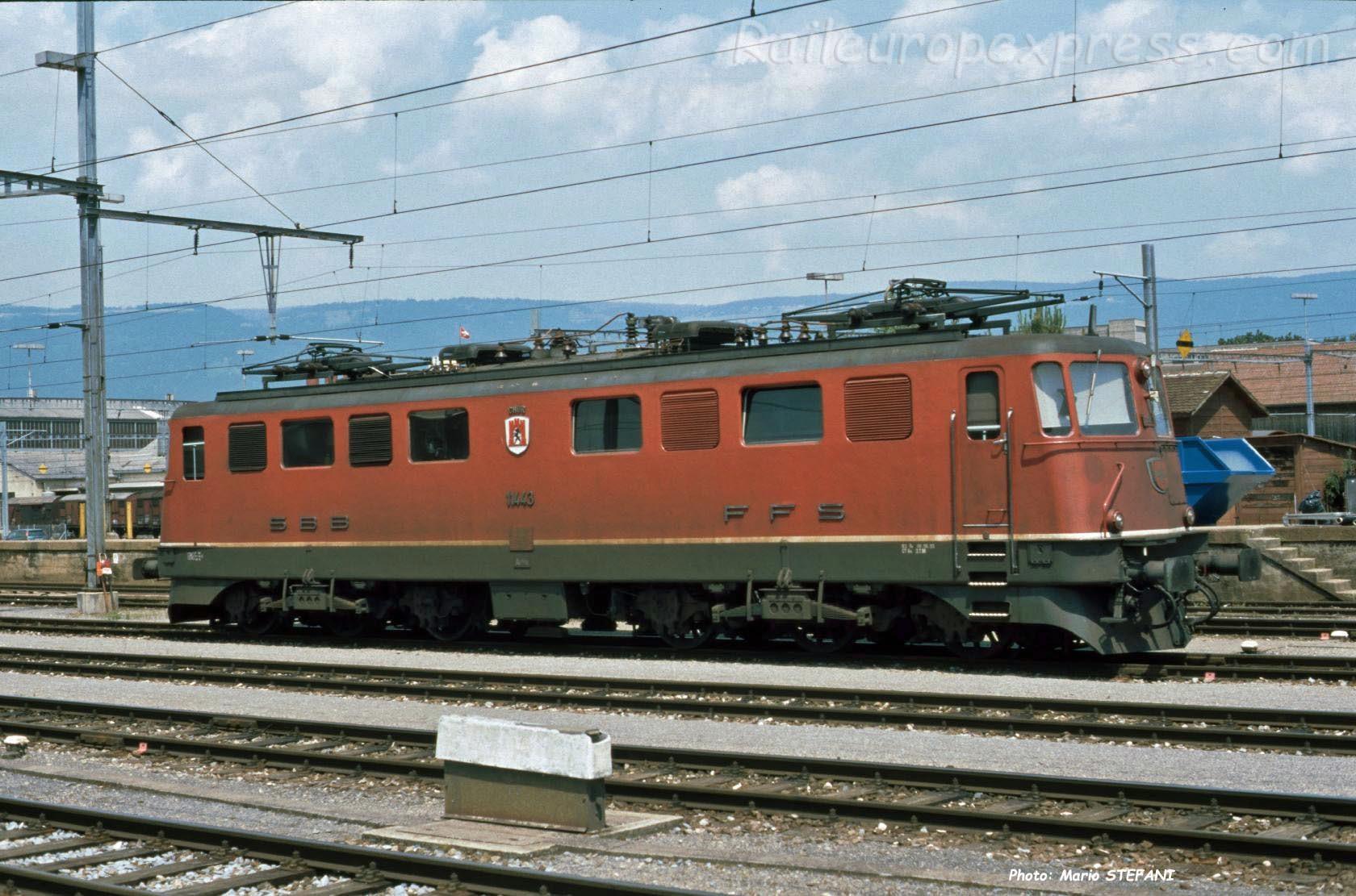Ae 6/6 11443 CFF à Yverdon (CH)