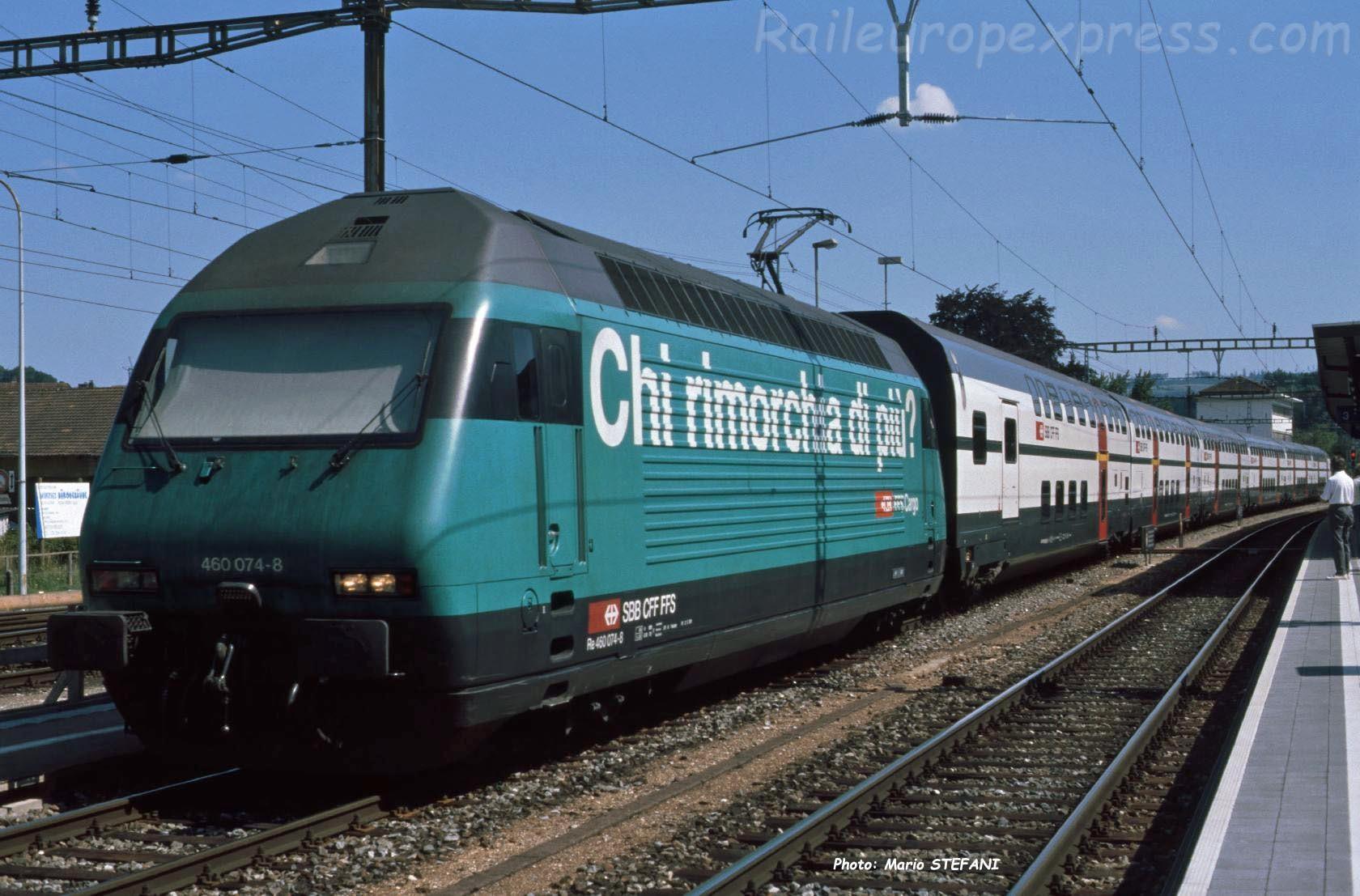 Re 460 074-8 CFF à Lyss (CH)