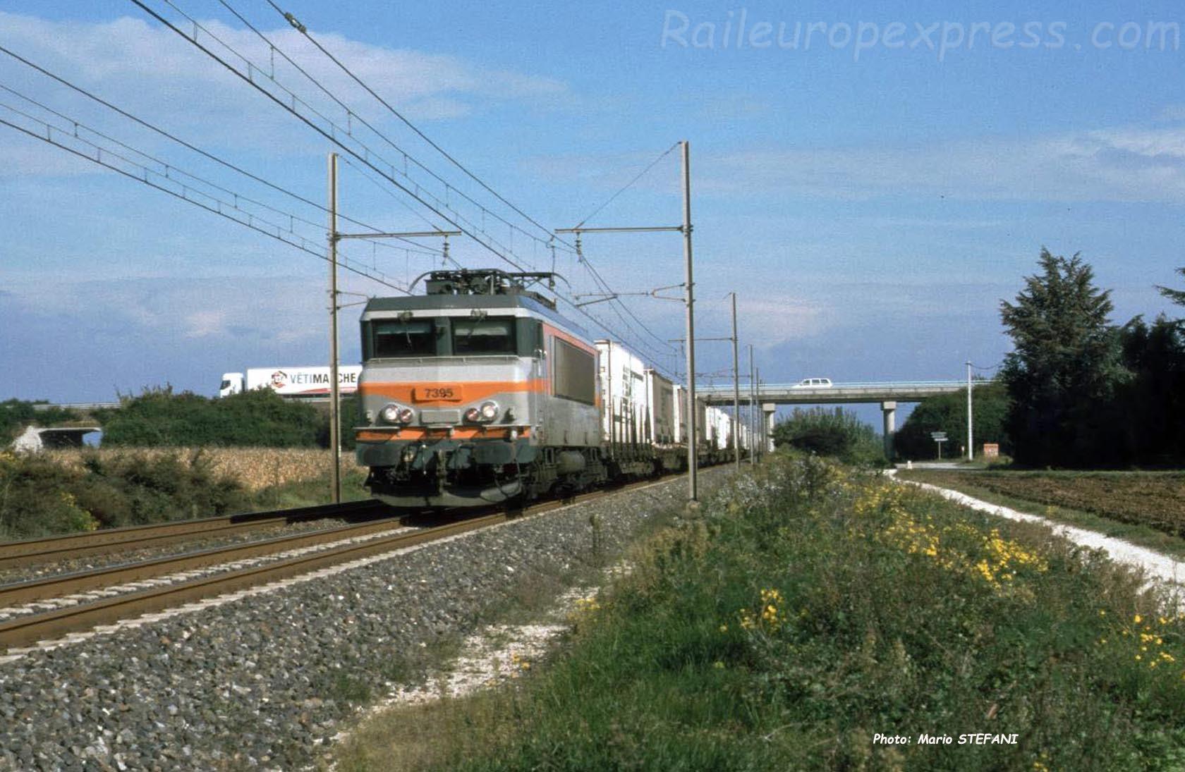 BB 7395 SNCF à Pierrelatte (F-26)