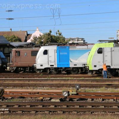 Locomotives BLS à Basel (CH)