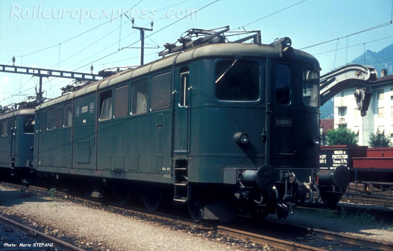 Ae 4/6 10808 CFF à Bellinzona (CH)