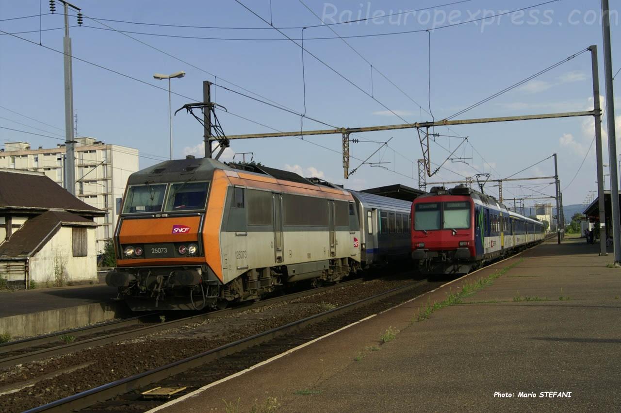 BB 26073 SNCF à Saint Louis (F-68)