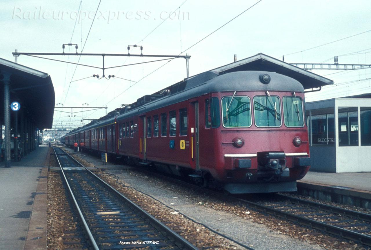 RABDe 1212 CFF à  Rapperswil (CH)