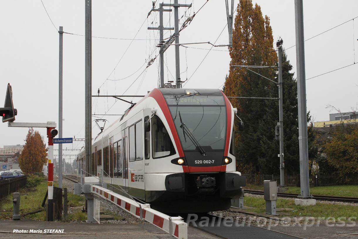RABe 520 002-7 CFF à Oberentfelden